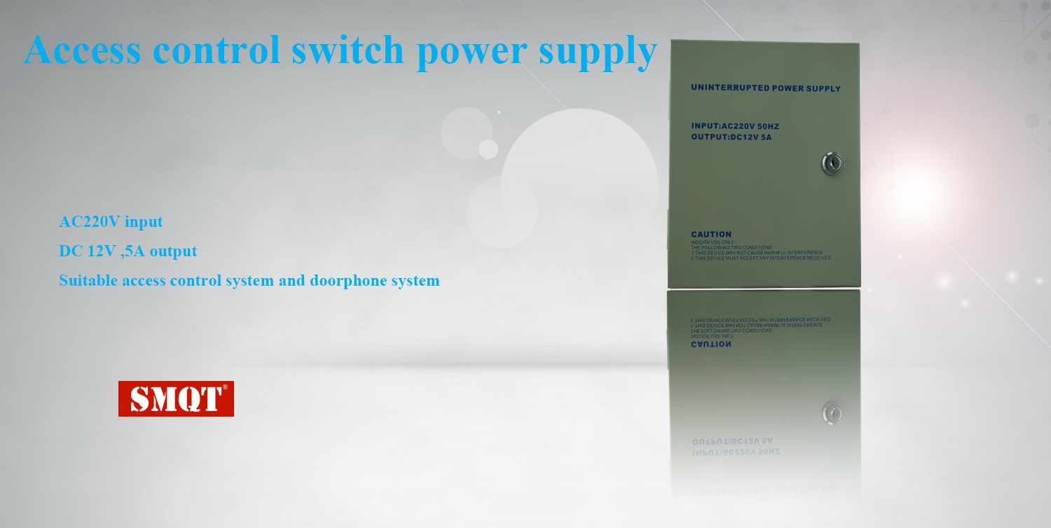 DC 12V 5A metal box  access control switch power supply