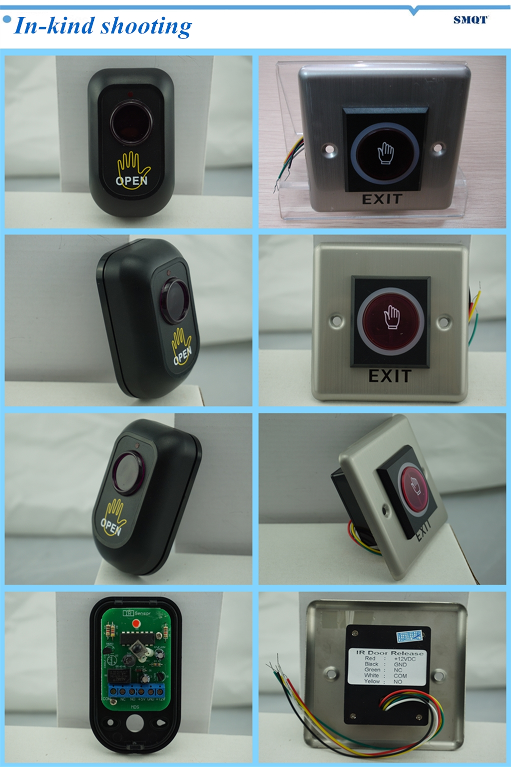 Infrared induction  door switch button