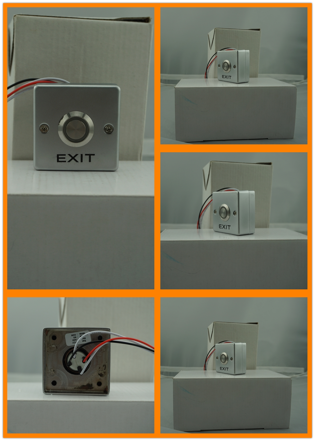 EA-27F Mini size door release button with LED back light