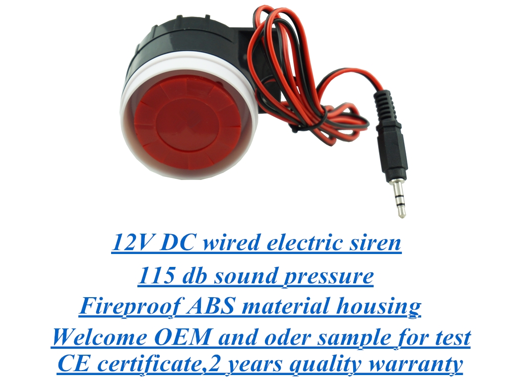 12V DC wired electric alarm siren form shenzhen manufacturer