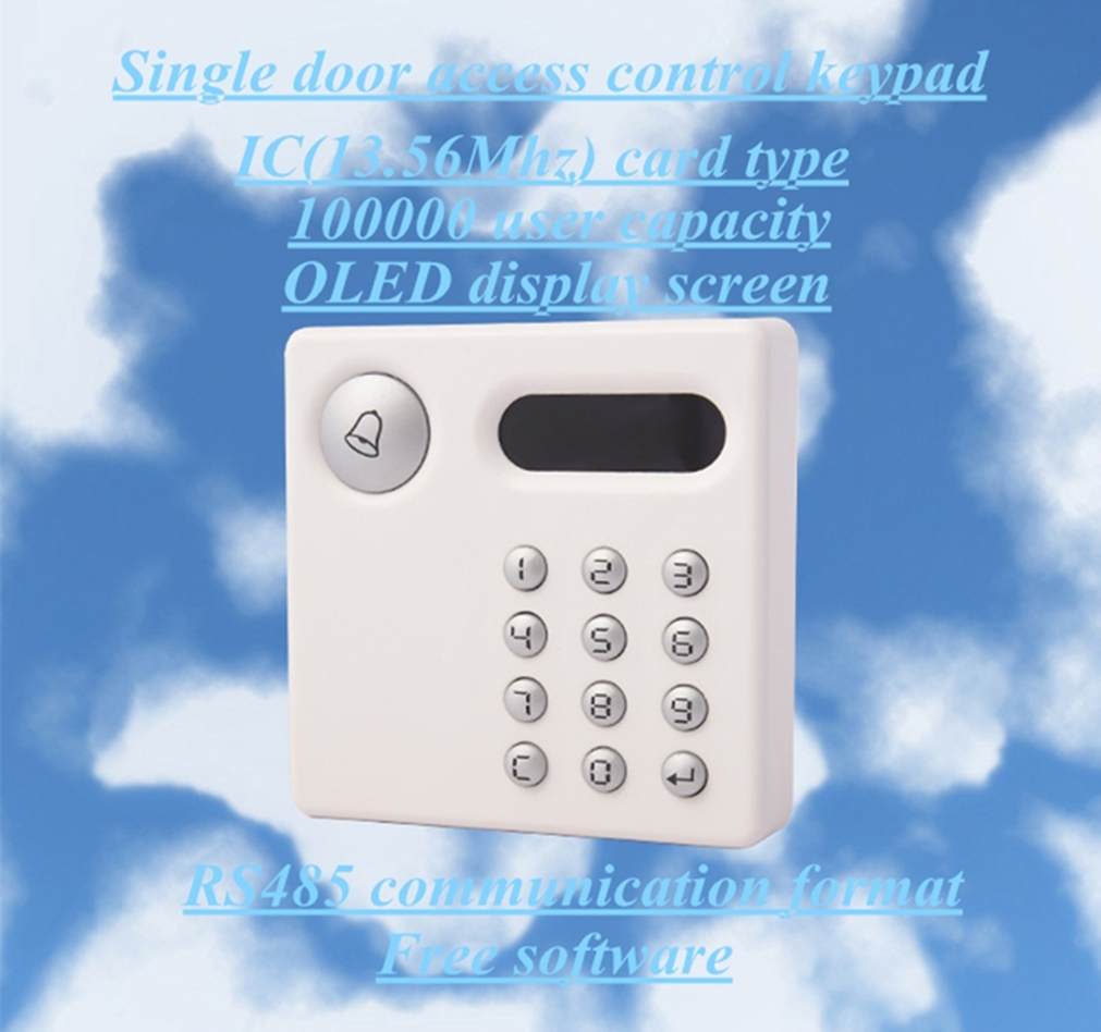 OLED Screen Network Standalone IC Single Door Access Control Keypad