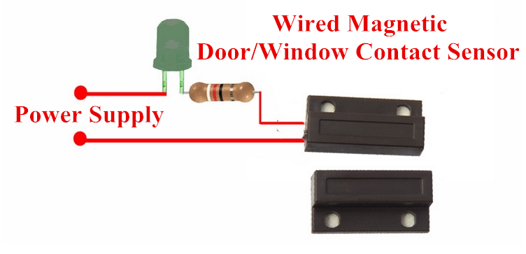 EB-134 Magnetic Contact(white),Magnetic Contact(black),Wired magnetic doorcontact,wired magnetic door sensor,window/door magnetic door contact sensor.