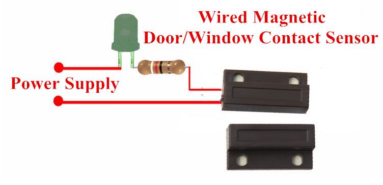 Magnetic Contact Door Sensor Window Sensor Wood And Teel
