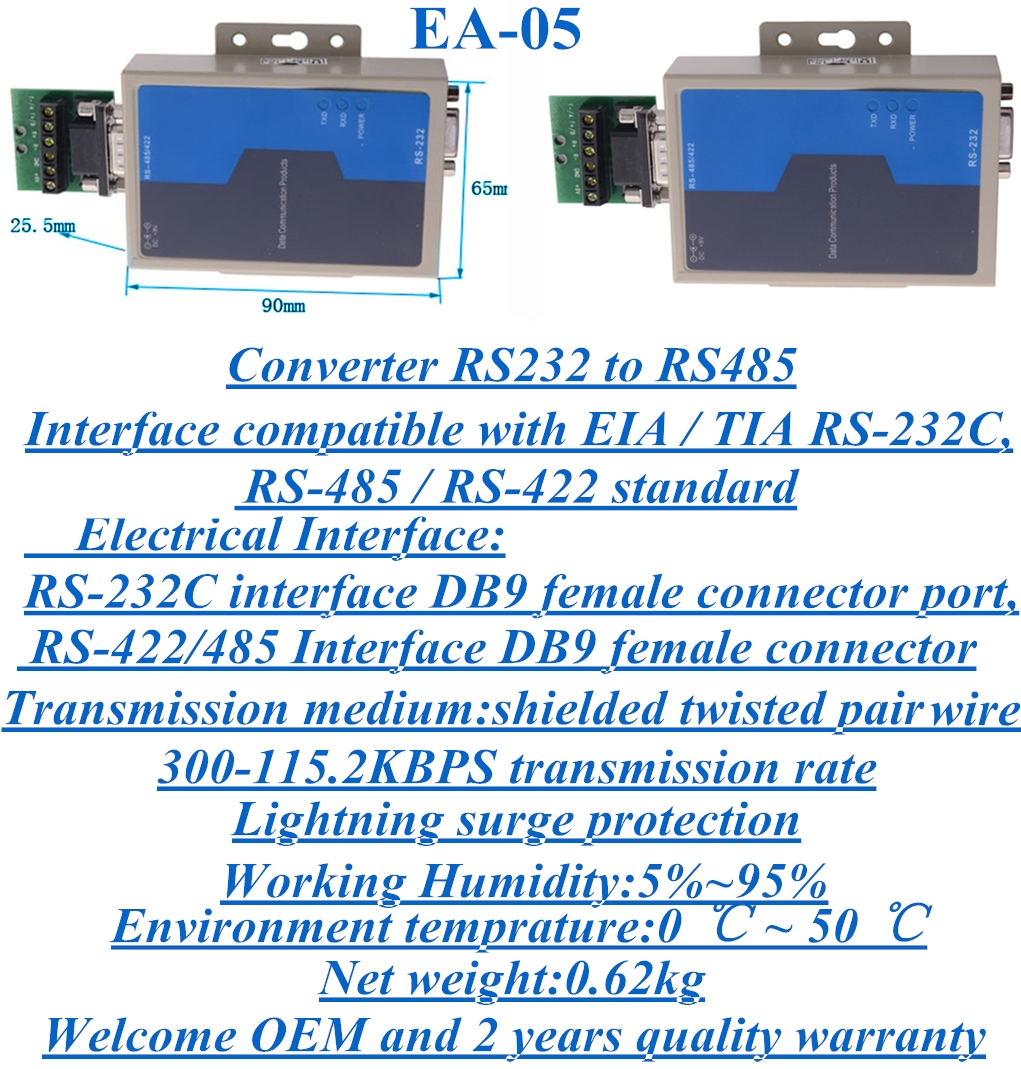 Data switch converter RS232 to RS485 EA-05