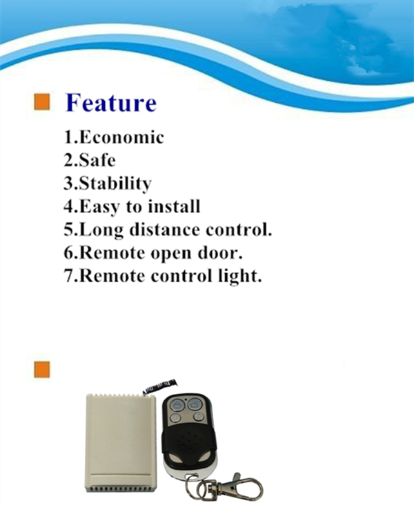 Four channel remote control for Access control system