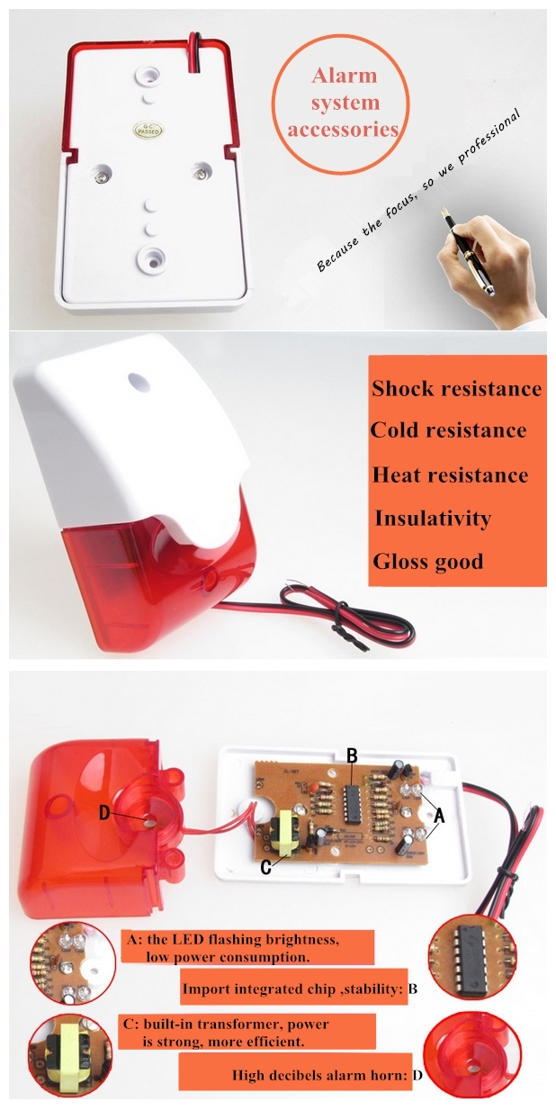Electric Strobe Light Alarm Siren