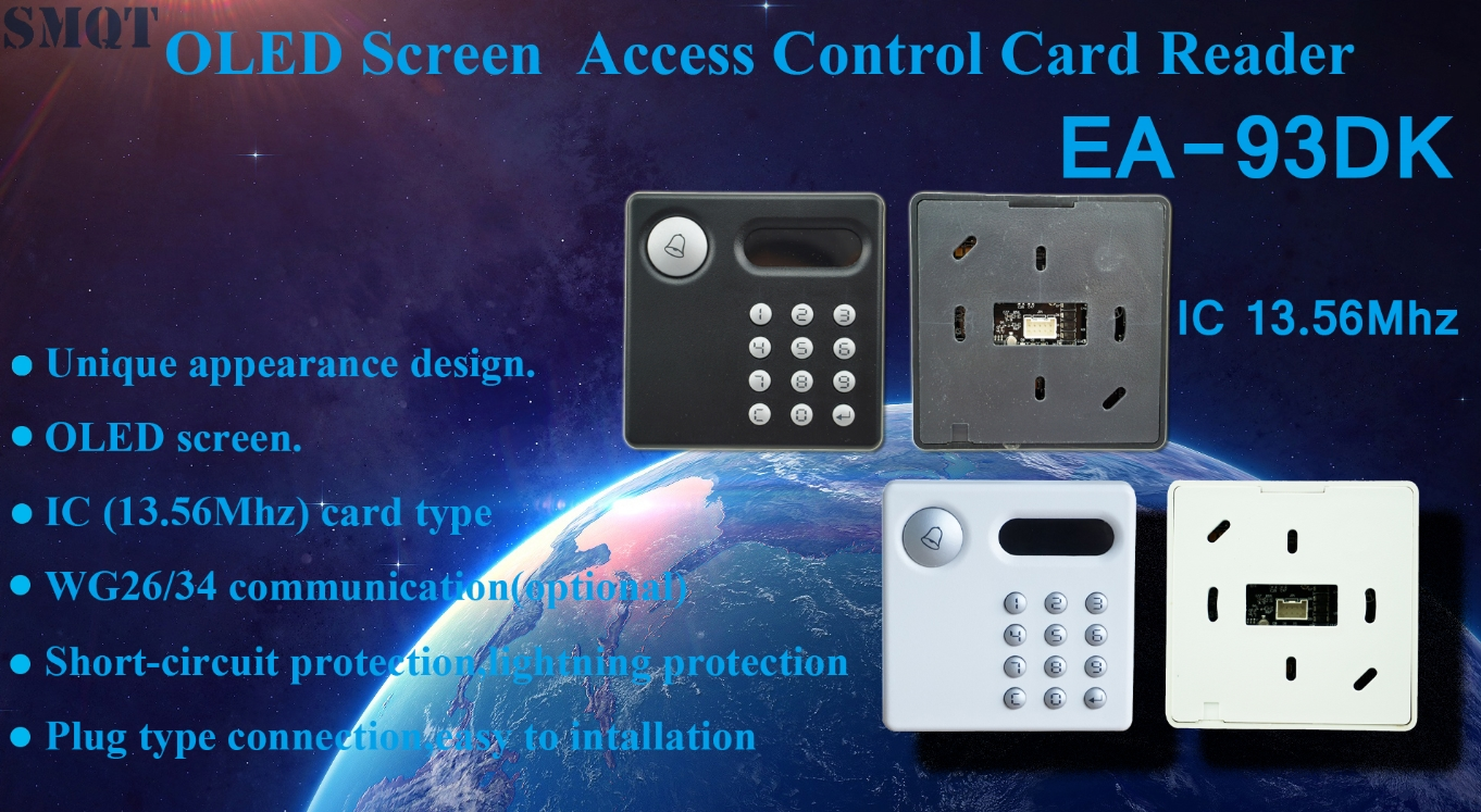 OLED Screen IC(13.56Mhz) Access control card reader EA-93DK