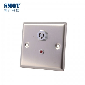 100000 times test stainless steel emergency button with the key for hollow door