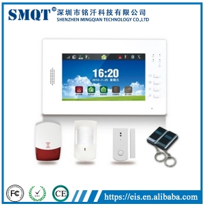 EB-839 Visualized Operation Platform 7 Inch Touch Screen Wireless GSM Home Alarm