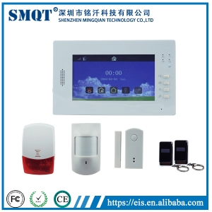 EB-839 Visualized Operation Platform 7 Inch Touch Screen wireless home security gsm auto dial alarm system