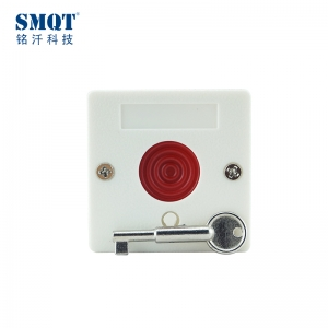 Fireproof ABS push button key-reset switch/panic button /Emergency exit button