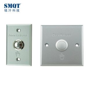 High quality Aluminum Hollow door Push button switch