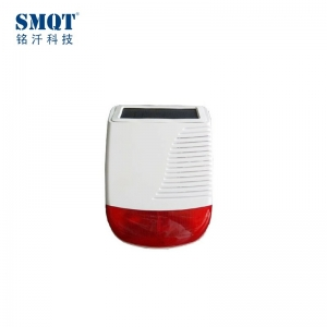 High quality wireless strobe siren with solar for alarm system