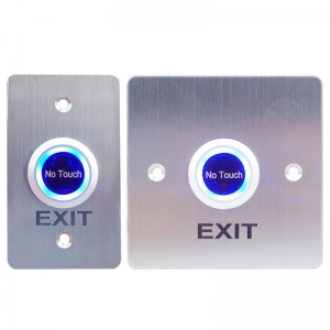 Infrared No Touch Exit button with 2 Colors LED light use for door access control system