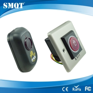 Infrared button for door exit and entry