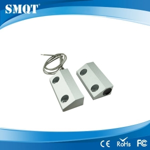 Metal door magnetic contact for access control and alarm system