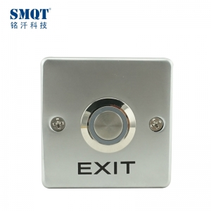 SMQT Alloy door access control exit release push button NC NO COM port with LED back light