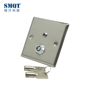Stainless steel access control door release button with key