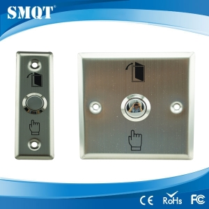 Stainless steel panel door release/switch button