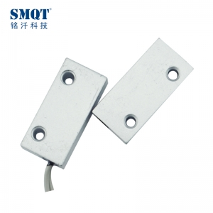 Surface mount wired metal magnetic contact sensor