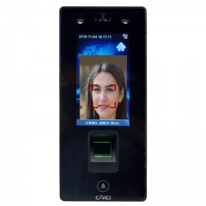 Touch screen fingerprint&face recognition door accsss control and time attendance reader