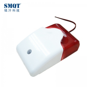 Wired strobe siren with blue or red color optional