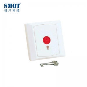 auto-reset/key-reset emergency push button for access control and alarm