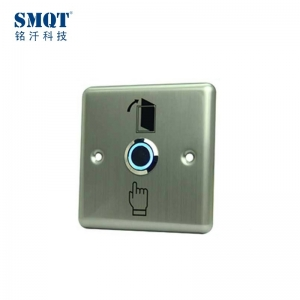 stainless steel door open button with led light for access control system