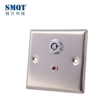 China 100000 times test stainless steel emergency button with the key for hollow door factory