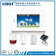 China EB-839 Visualized Operation Platform 7 Inch Touch Screen Wireless GSM Home Alarm factory