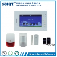 China EB-839 Visualized Operation Platform 7 Inch Touch Screen wireless home security gsm auto dial alarm system factory