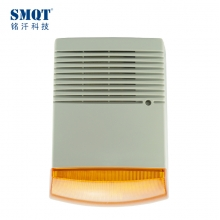China Outdoor alarm siren with strobe light blue Red Orange factory