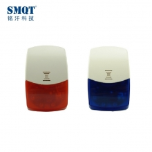 China Red/Blue wireless alarm strobe siren with built-in battery factory