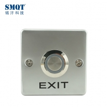 China SMQT Alloy door access control exit release push button NC NO COM port with LED back light factory