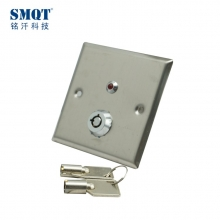 China Stainless steel access control door release button with key factory