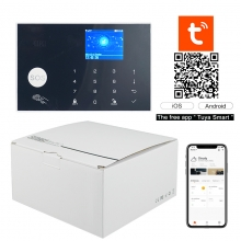 China Tuya App control WIFI+GSM smart home alarm hub kit for home alalrm system factory